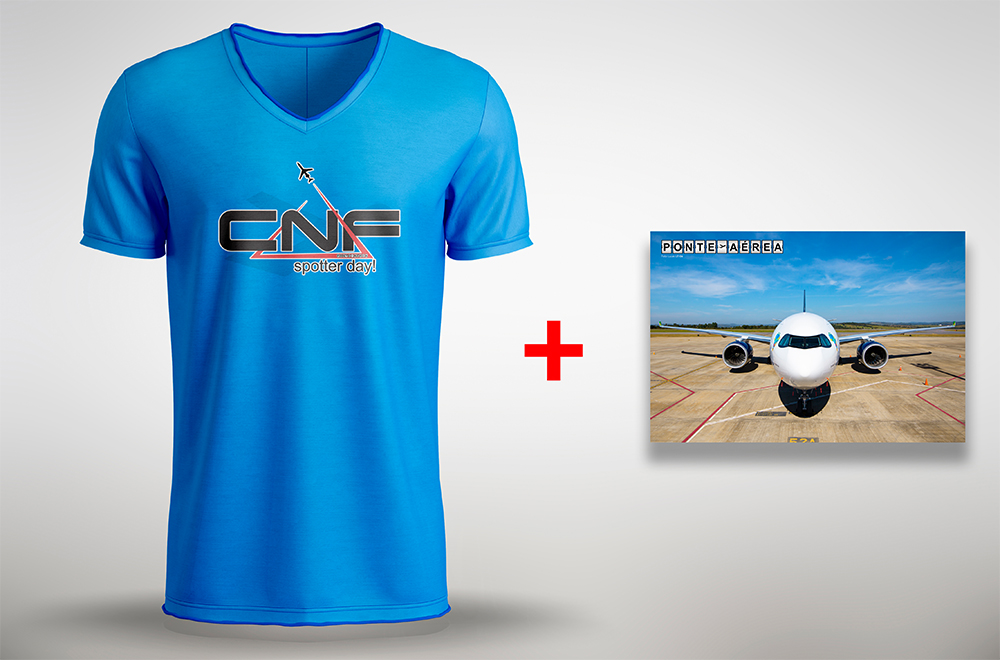Camisa CNF Spotter Day 2019 + Pôster A330neo